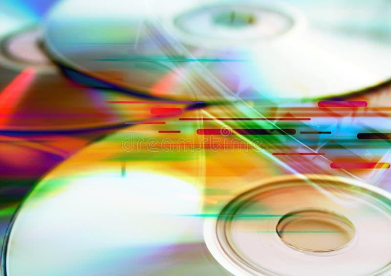 cdscd-skivor royaltyfri bild