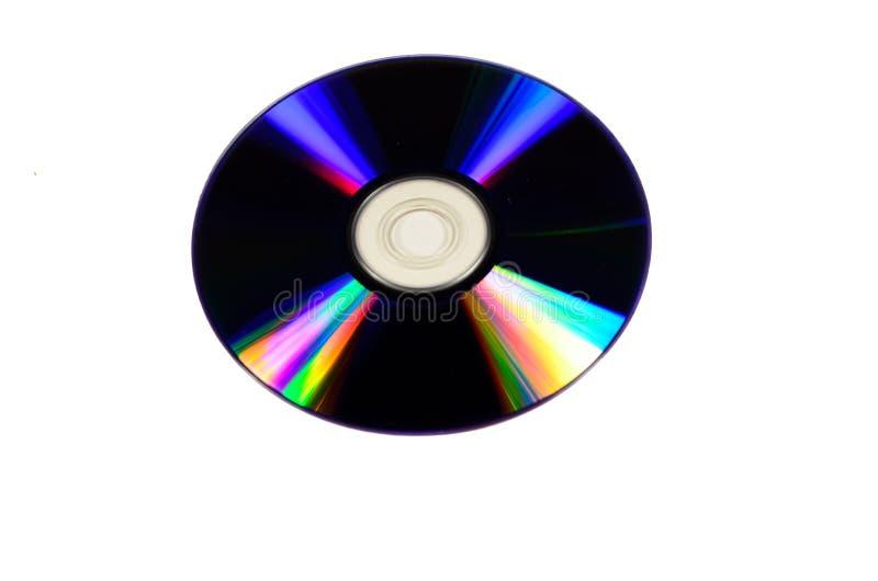 CDscheibe lokalisiert auf Weiß lizenzfreie stockfotos