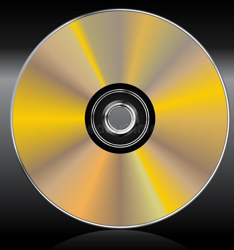 CDvector van de blauw-straal dvd royalty-vrije illustratie