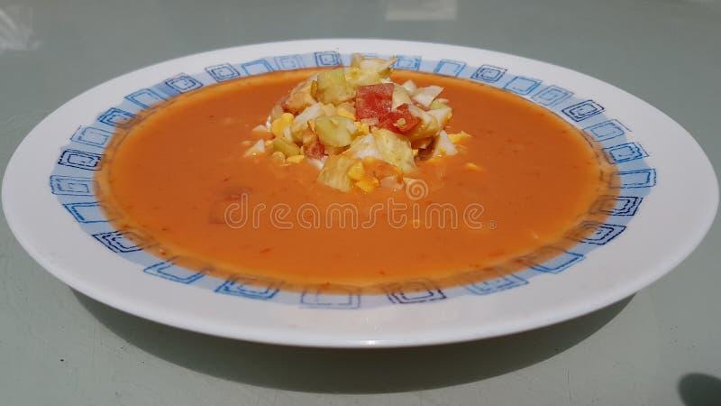 $ce-andalusisch Gazpacho stock fotografie