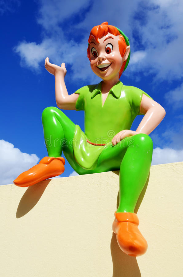 Statue de Peter Pan Disney   photos libres de droits