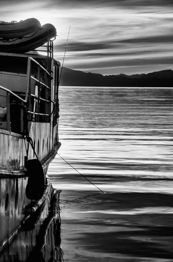 Ce fait partie d'un bateau, pris d'un angle différent images stock