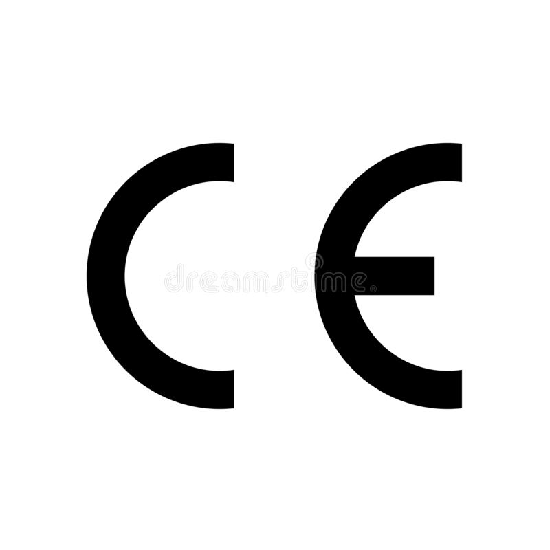 CE mark symbol. European Conformity certification. Clipart image isolated on white background royalty free illustration