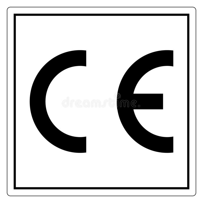 CE Mark Symbol Sign, Vector Illustration, Isolate On White Background Label .EPS10. CE Mark Symbol Sign, Vector Illustration, Isolate On White Background Label royalty free illustration