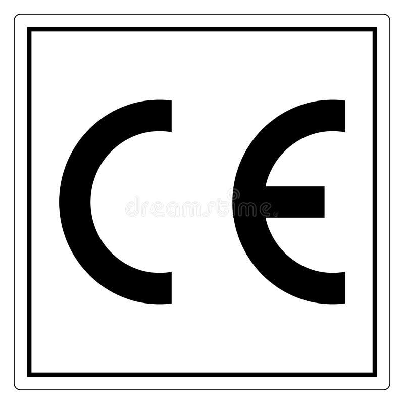 CE Mark symbolu znak, Wektorowa ilustracja, Odizolowywa Na Bia?ej t?o etykietce EPS10 royalty ilustracja