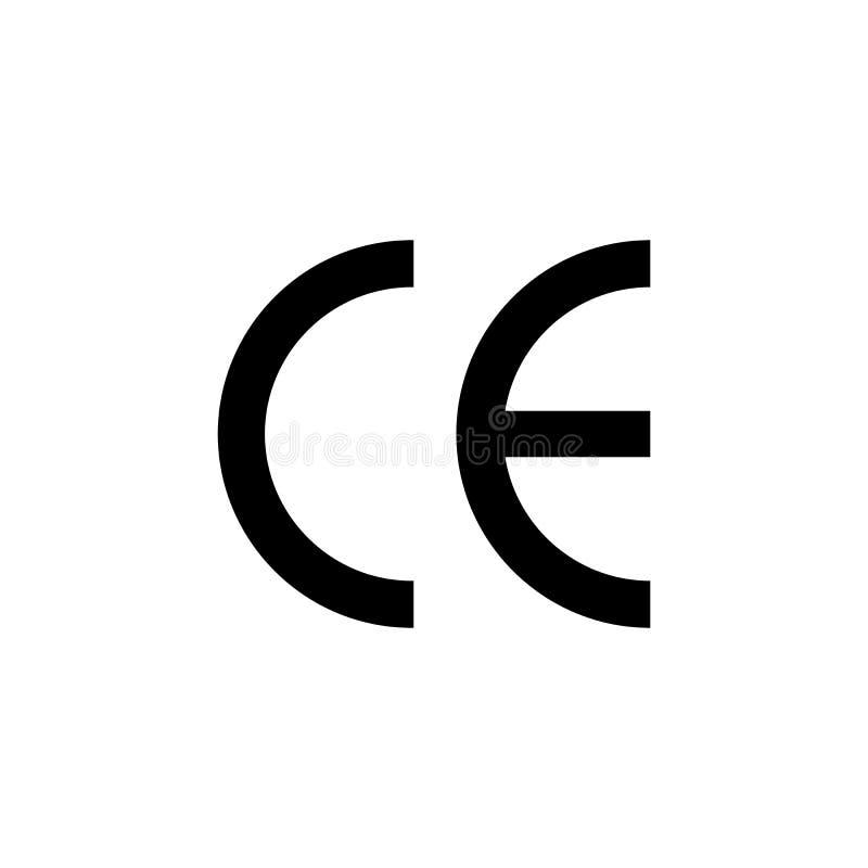 CE oceny symbol CE symbolu ikona ilustracji