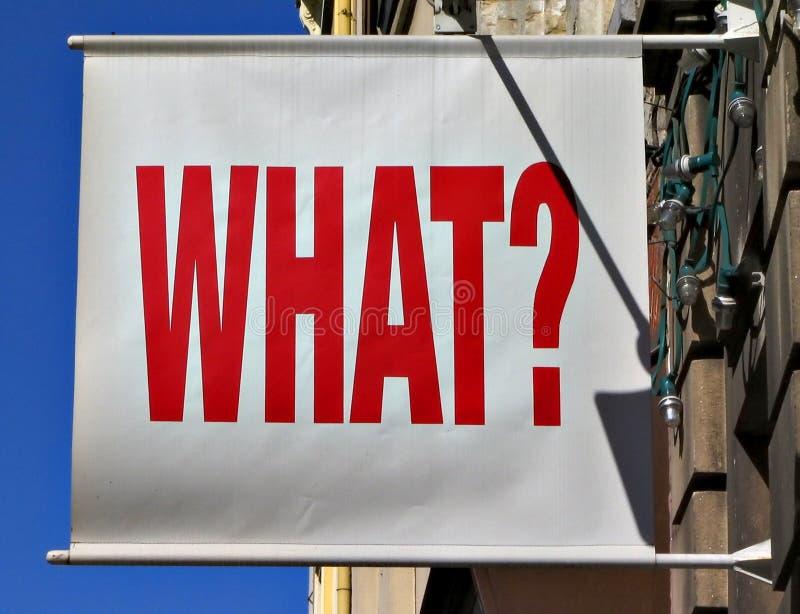 Ce qui ! ? photographie stock libre de droits