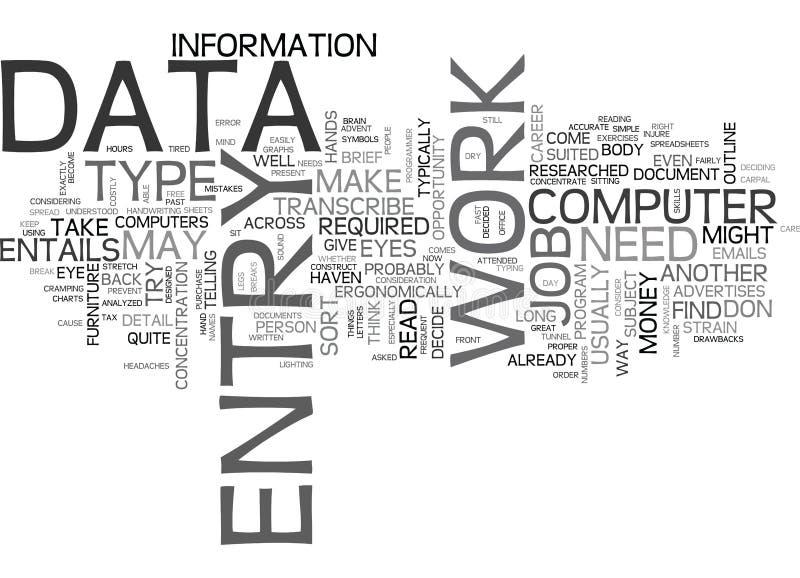 Ce qui est exactement nuage de Word de saisie de données illustration de vecteur
