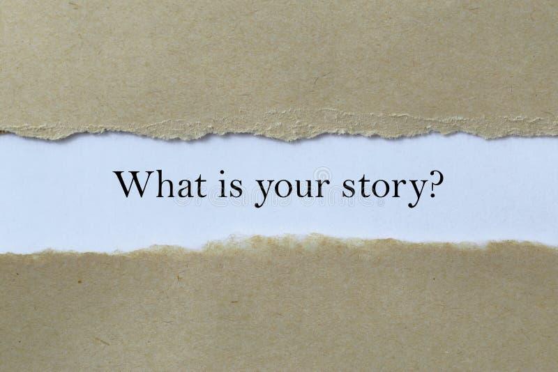 Ce qui est votre histoire images libres de droits