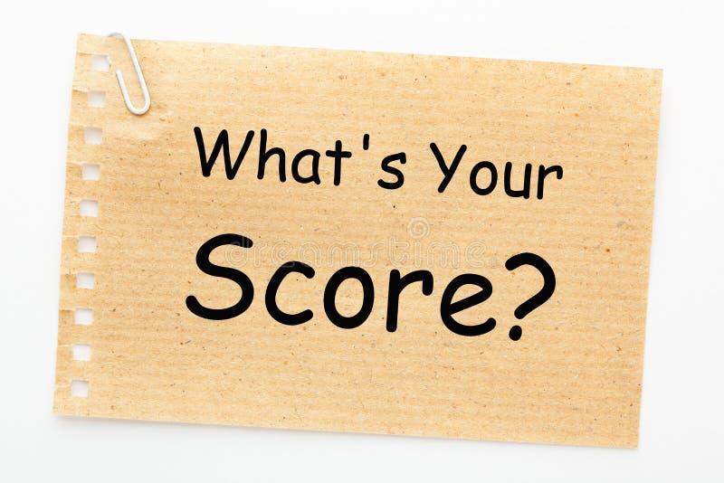 Ce qui est votre score photographie stock libre de droits