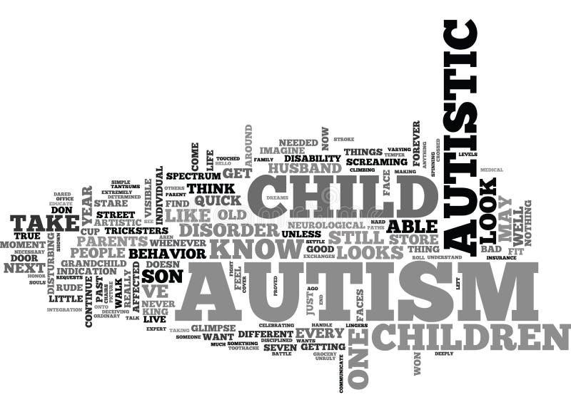 Ce qui fait le nuage de Likeword de regard d'autisme illustration de vecteur