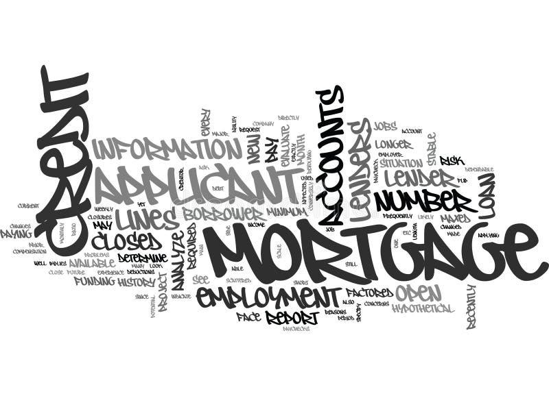 Ce qui fait une société de prêt immobilier recherchez sur votre nuage de Word de rapport de crédit illustration libre de droits