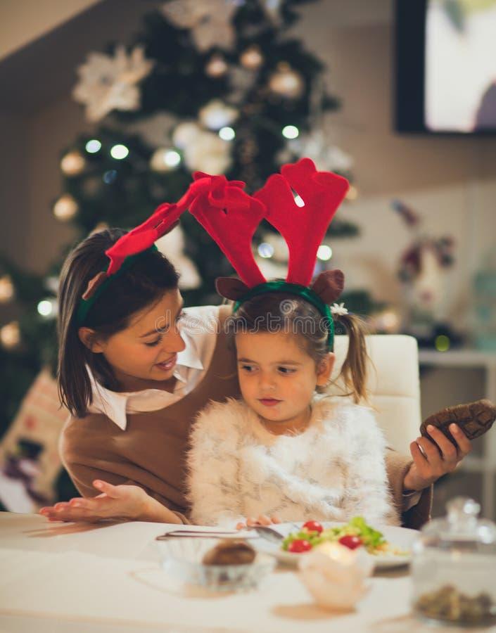 Ce qui vous veulent pour un dîner de Noël image stock