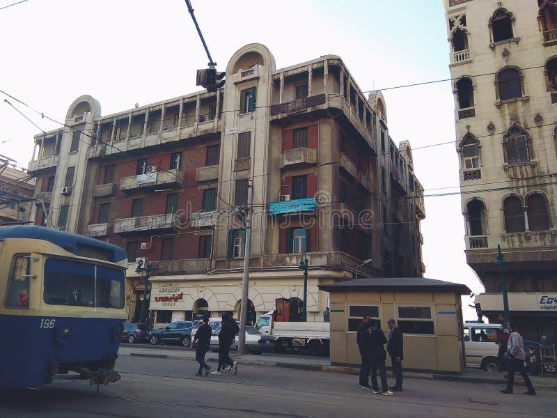 Ce secteur s'appelle la station de Raml, l'Alexandrie, Egypte photos stock