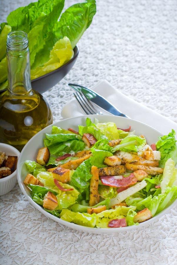 ceasar φρέσκια σπιτική σαλάτα στοκ φωτογραφία