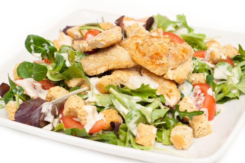 Download Ceasar салат плиты стоковое фото. изображение насчитывающей изолировано - 18382720