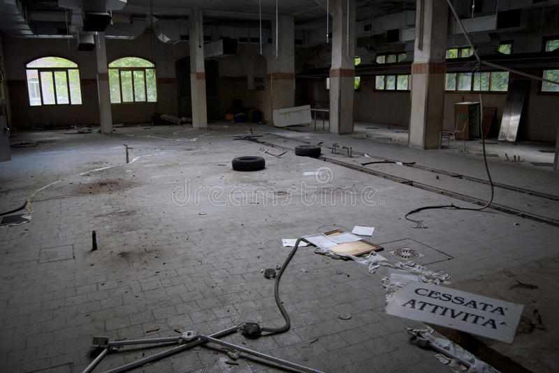 Ceased activity. An old hospital in venice, closed and abandoned royalty free stock images
