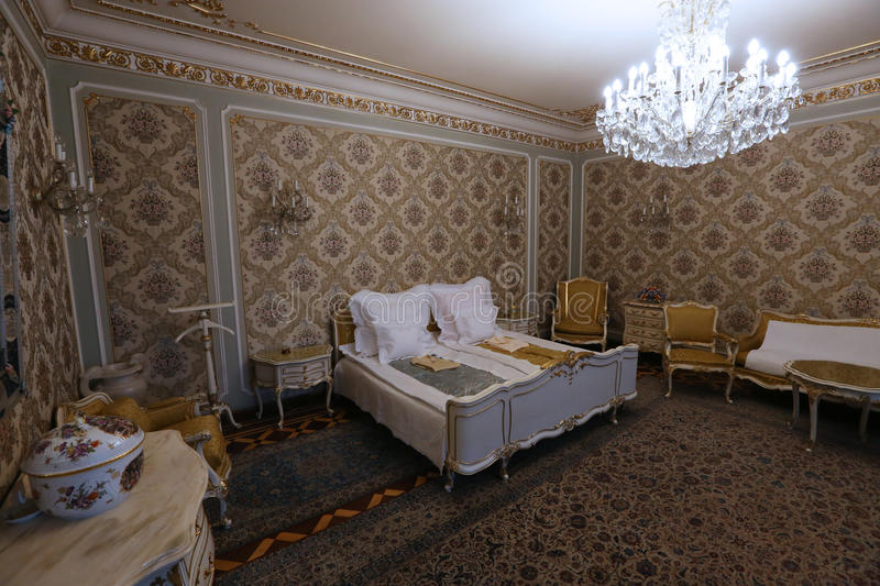 CEAUSESCU FAMILY HOUSE - PRIMAVERII PALACE MUSEUM. Primaverii Palace, former Bucharest residence of Ceausescu family, has been transformed into a museum and stock image