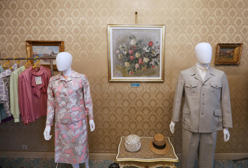 CEAUSESCU FAMILY HOUSE - PRIMAVERII PALACE MUSEUM. Primaverii Palace, former Bucharest residence of Ceausescu family, has been transformed into a museum and stock images
