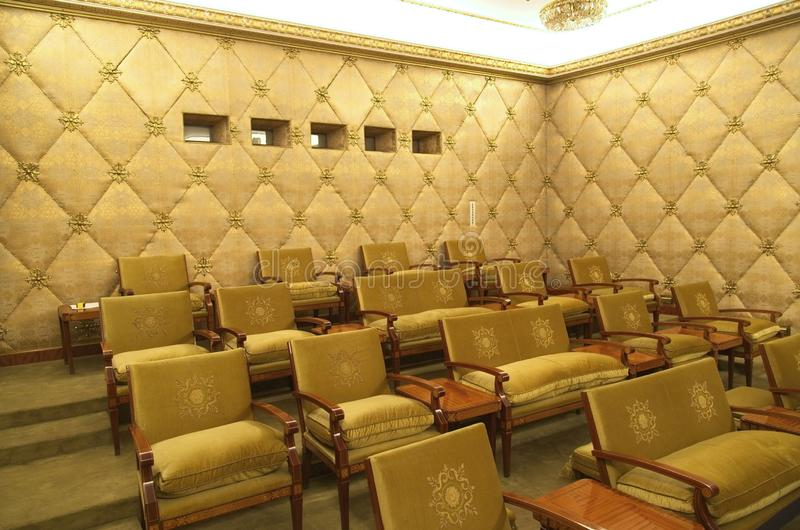 Ceausescu pałac teatr fotografia royalty free