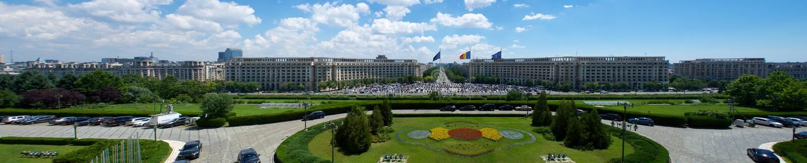 Ceausescu Palace view of the Parliament Bucharest Romania Europe royalty free stock photo