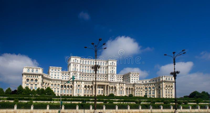 Ceausescupaleis van het Parlement Boekarest Roemenië stock foto's