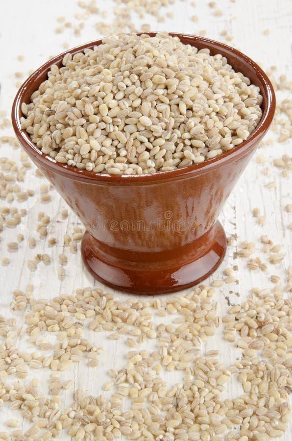 Download Cebada De Perla Cascada En Un Cuenco Foto de archivo - Imagen de grano, orgánico: 42439738