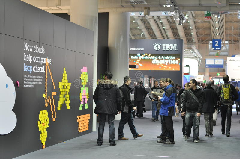 CeBit in Hannover royalty free stock photos