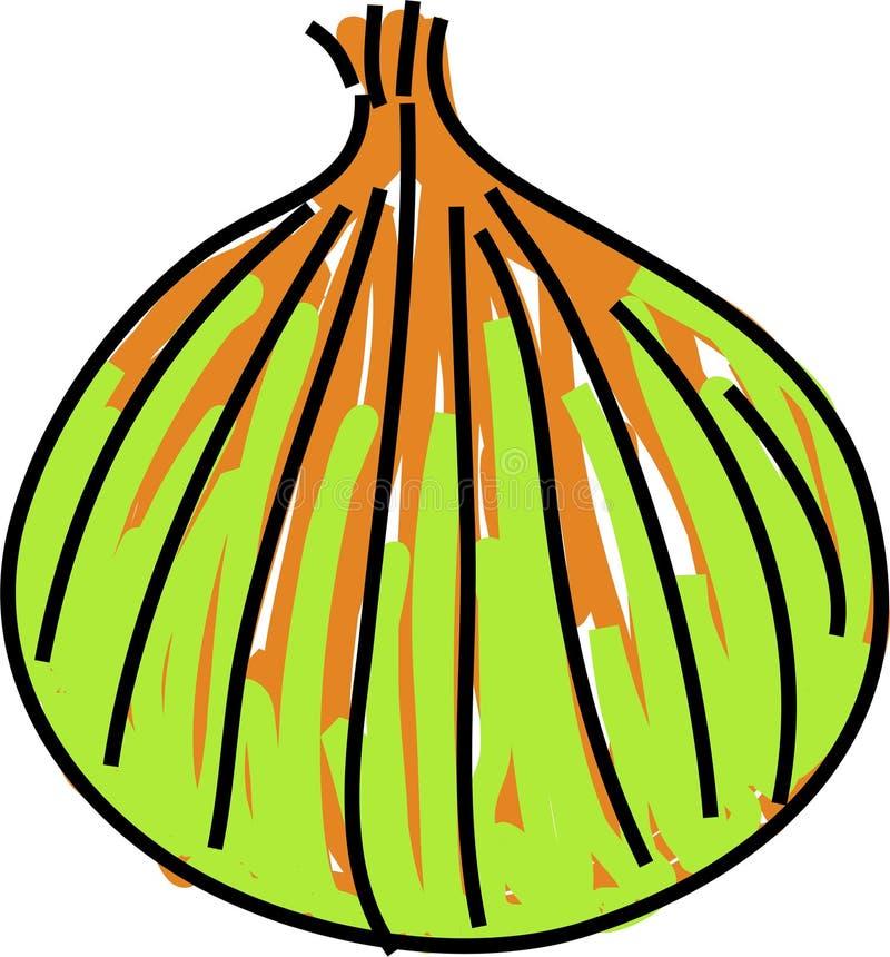 Cebola ilustração royalty free