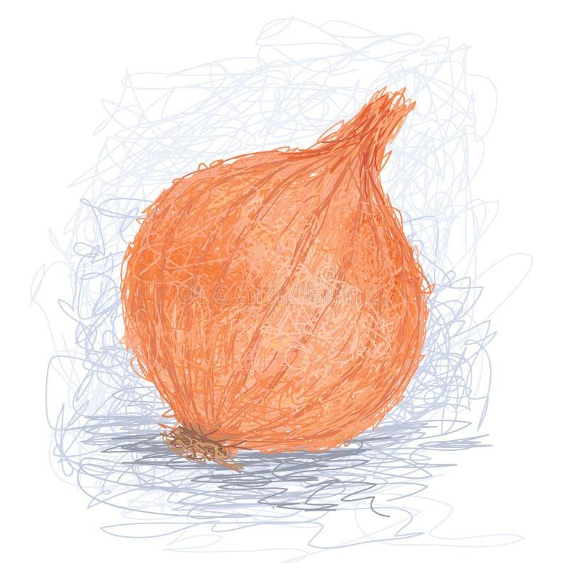 Cebola ilustração stock