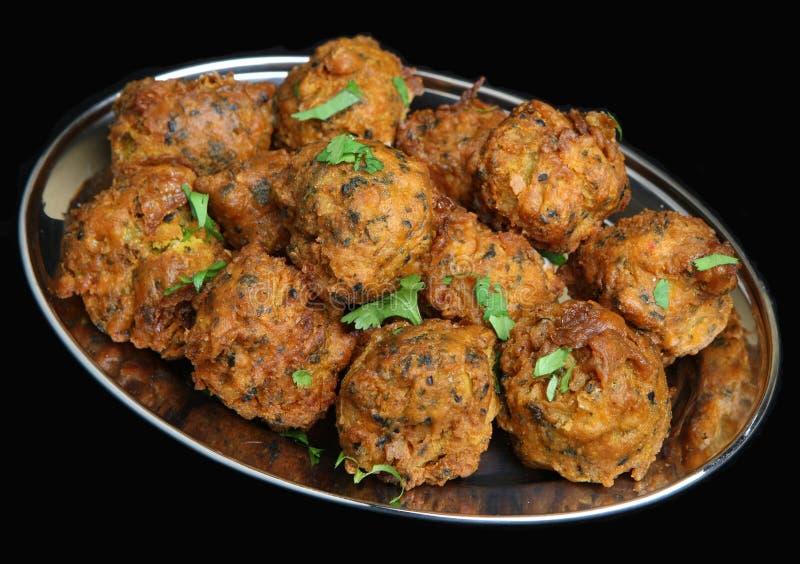 Cebola indiana Bhajis foto de stock