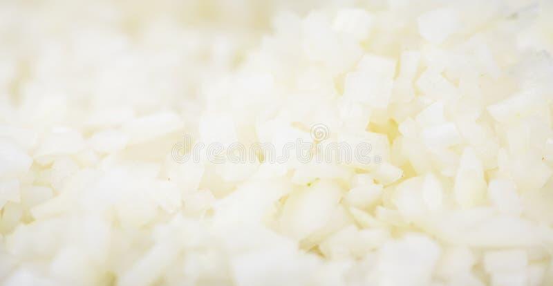 Cebolas brancas desbastadas caseiros imagens de stock