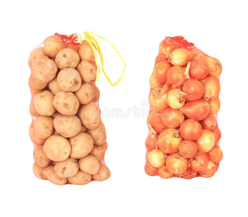 Cebolas e batatas imagem de stock royalty free