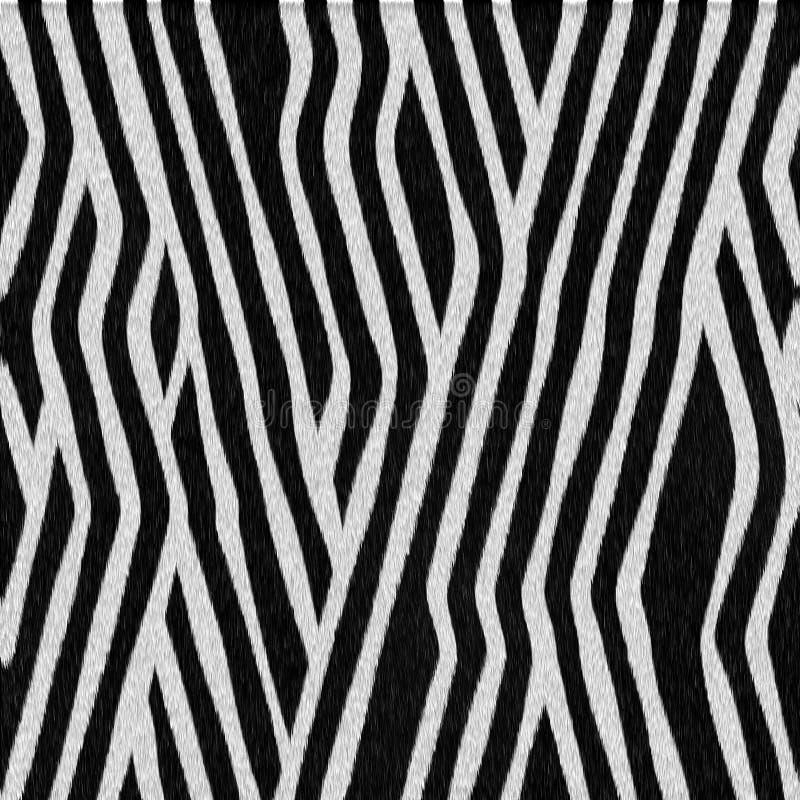 Cebra animal manchada de la textura ilustración del vector
