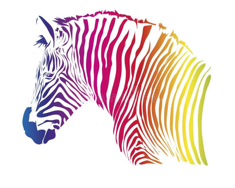 Cebra del color stock de ilustración