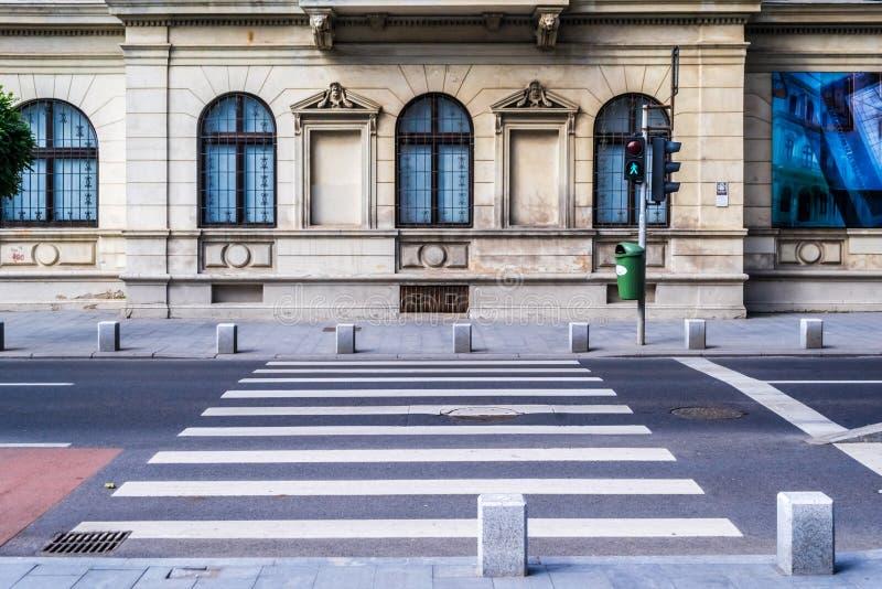 Cebra del paso de peatones foto de archivo