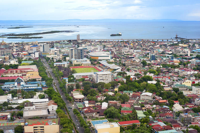 Cebu city. Panorama of Cebu city. Cebu is the Philippines second most significant metropolitan centre and main domestic shipping port royalty free stock photos