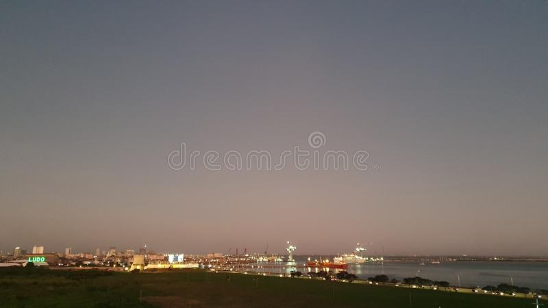 Cebu City Bay and Port Area in Philippines, Asia stock photo