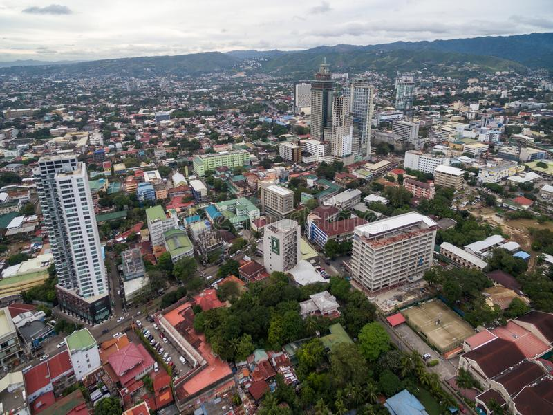 Cebu City Cityscape with Skyscraper and Local Architecture. Province of the Philippines located in the Central Visayas royalty free stock image