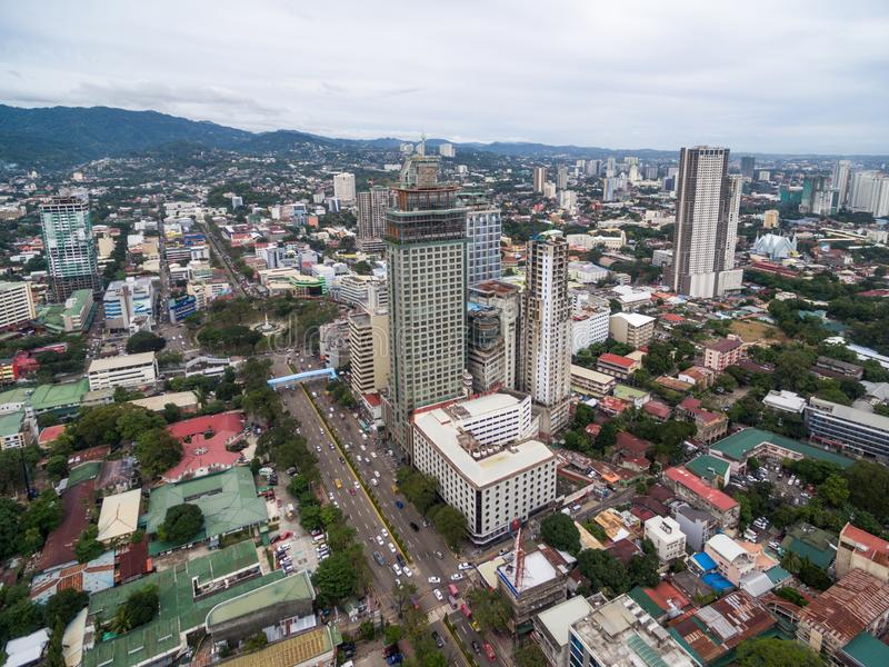 Cebu City Cityscape with Skyscraper and Local Architecture. Province of the Philippines located in the Central Visayas stock photos