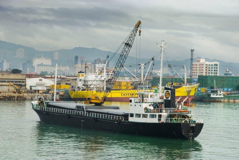 Cebu City Philippines from port royalty free stock photos