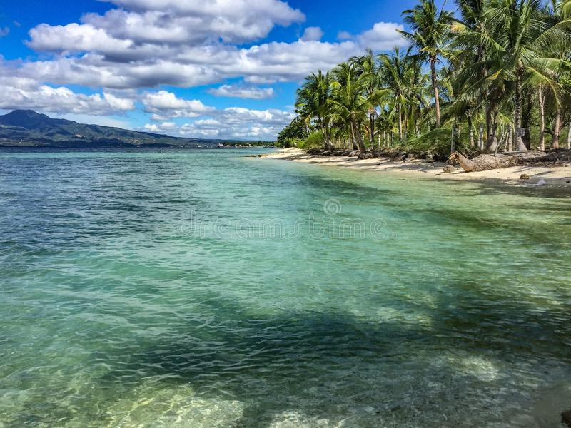 Cebu island, Philippines. From ferry going to port on Cebu island, Phillipines royalty free stock photo