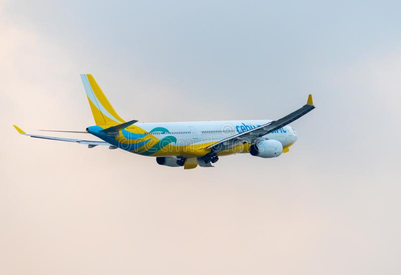 Cebu Pacific Airliner photo stock