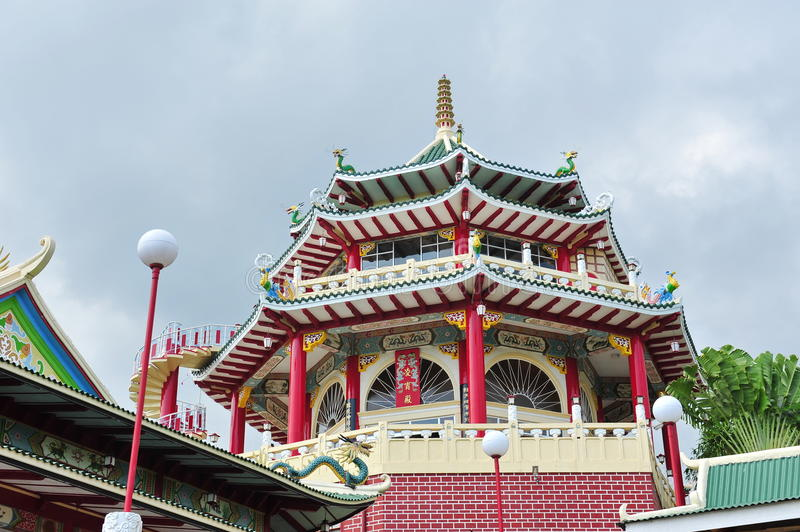 Cebu Taoist Temple pagoda. Pagoda of Taoist Temple in Cebu royalty free stock images