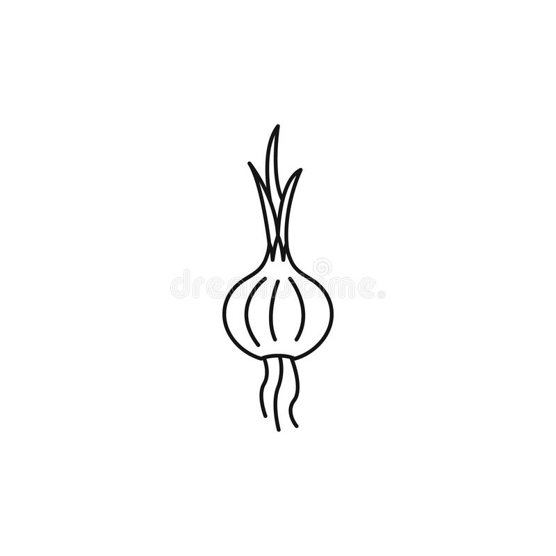 Cebulkowa ikona, konturu styl ilustracji
