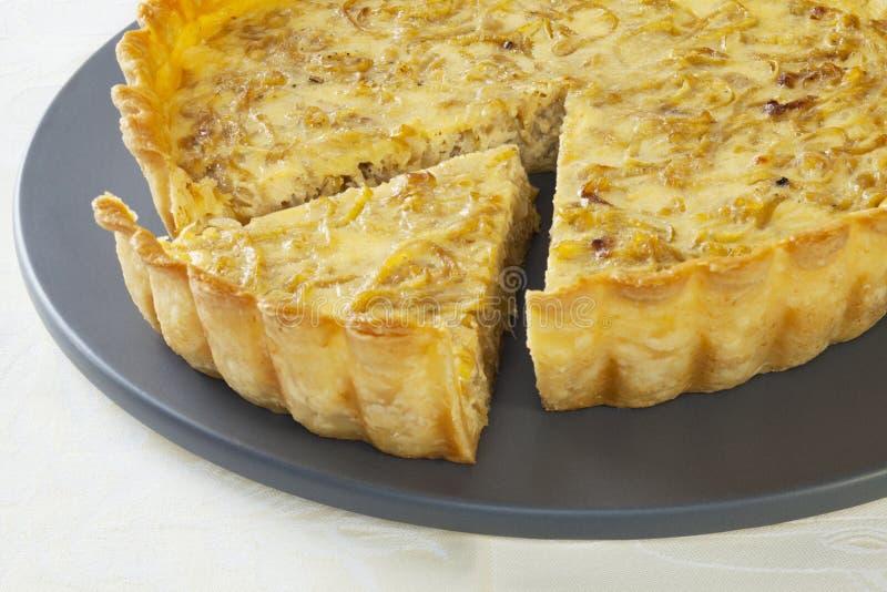 cebulkowy quiche zdjęcie royalty free