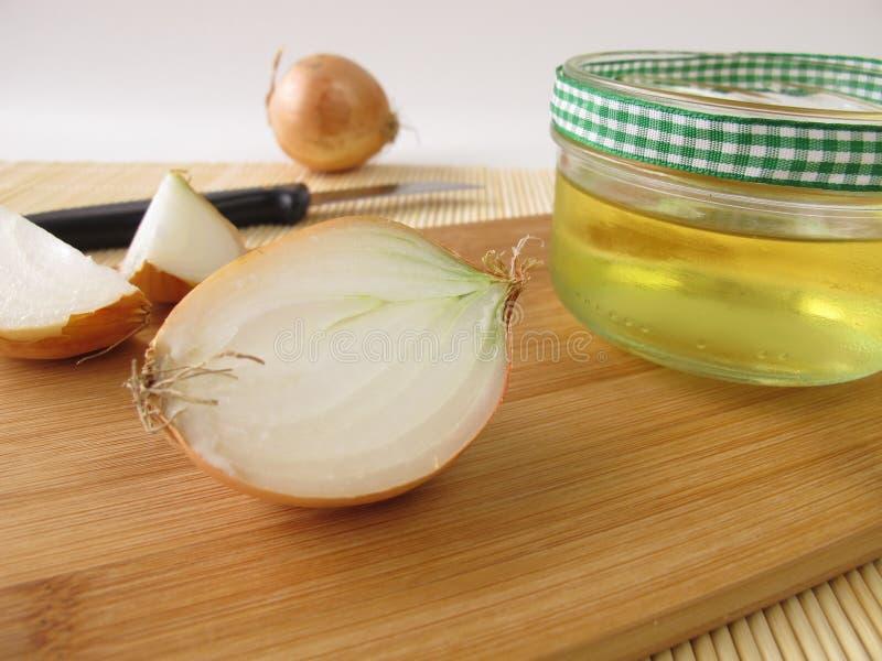 Cebulkowy syrop zdjęcia stock