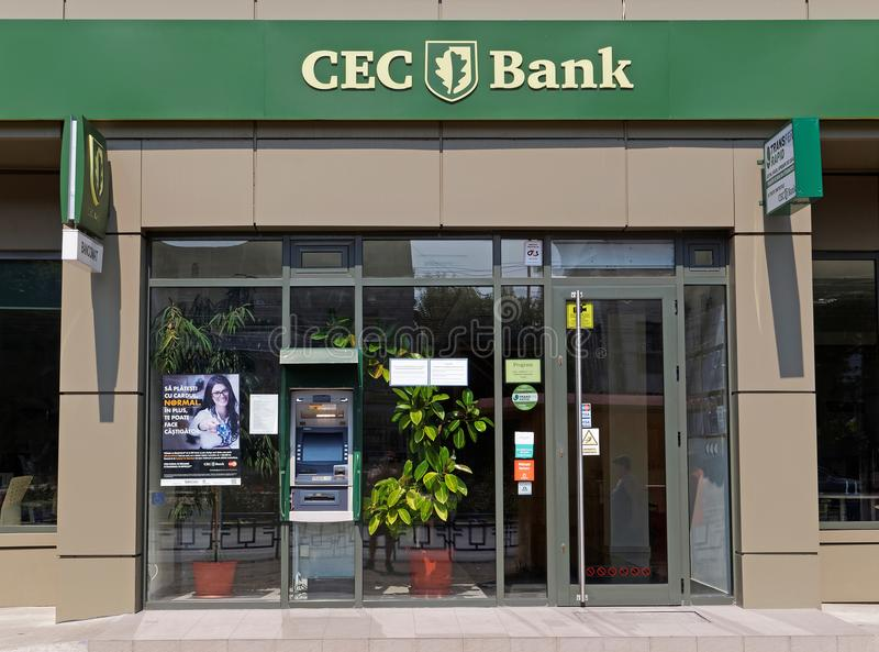 CEC Bank agency in Galati. GALATI, ROMANIA - SEPTEMBER 10, 2017. CEC Bank Agency in Galati. CEC Bank is a state-owned Romanian banking institution with many stock photos