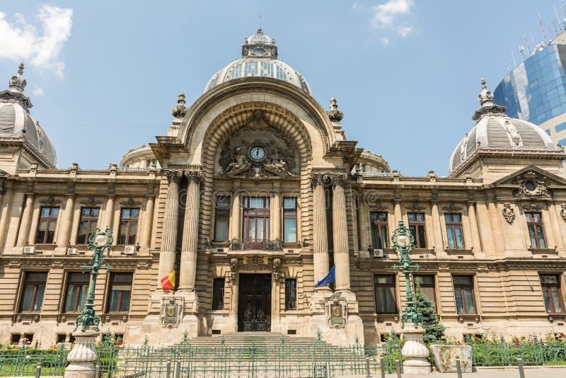 CEC bank W Bucharest zdjęcia royalty free