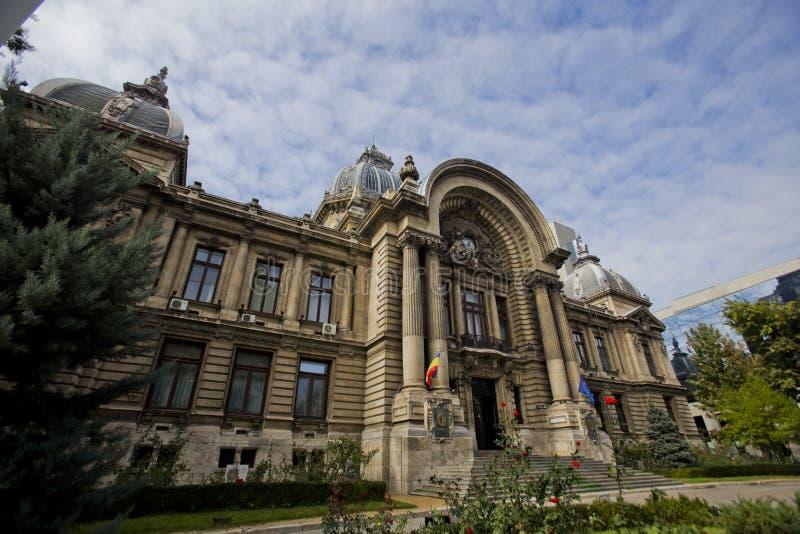 CEC budynek w Bucharest zdjęcie stock